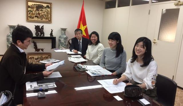 駐日ベトナム社会主義共和国大使館 勉強会!