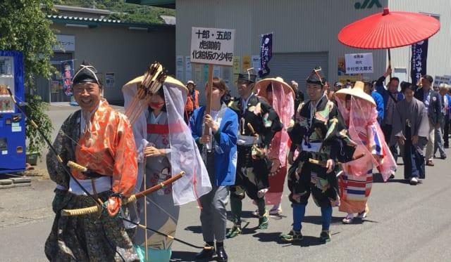 曽我の傘焼き祭り 2日目