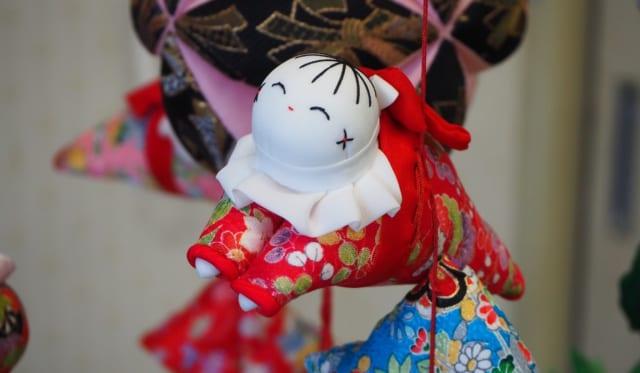 東伊豆町訪問(雛のつるし飾り制作)