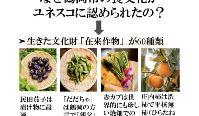 鶴岡市食文化創造都市推進協議会の方によるオンライン研修